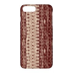 Wrinkly Batik Pattern Brown Beige Apple Iphone 7 Plus Hardshell Case by EDDArt