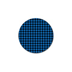 Lumberjack Fabric Pattern Blue Black Golf Ball Marker (10 Pack) by EDDArt