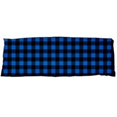 Lumberjack Fabric Pattern Blue Black Body Pillow Case Dakimakura (two Sides) by EDDArt