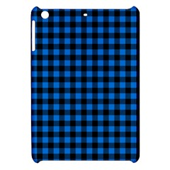 Lumberjack Fabric Pattern Blue Black Apple Ipad Mini Hardshell Case by EDDArt