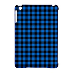 Lumberjack Fabric Pattern Blue Black Apple Ipad Mini Hardshell Case (compatible With Smart Cover) by EDDArt