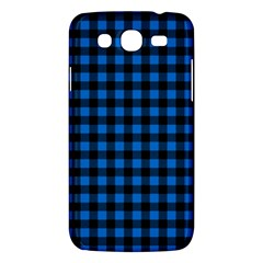 Lumberjack Fabric Pattern Blue Black Samsung Galaxy Mega 5 8 I9152 Hardshell Case  by EDDArt