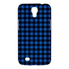 Lumberjack Fabric Pattern Blue Black Samsung Galaxy Mega 6 3  I9200 Hardshell Case by EDDArt