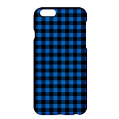 Lumberjack Fabric Pattern Blue Black Apple Iphone 6 Plus/6s Plus Hardshell Case by EDDArt