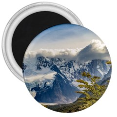 Snowy Andes Mountains, El Chalten Argentina 3  Magnets by dflcprints