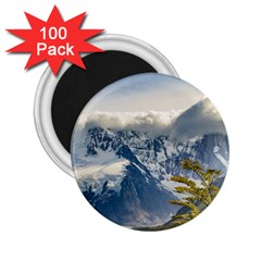 Snowy Andes Mountains, El Chalten Argentina 2 25  Magnets (100 Pack)  by dflcprints
