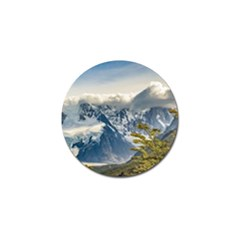 Snowy Andes Mountains, El Chalten Argentina Golf Ball Marker (10 Pack) by dflcprints