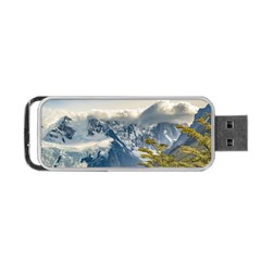 Snowy Andes Mountains, El Chalten Argentina Portable Usb Flash (one Side) by dflcprints