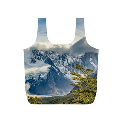 Snowy Andes Mountains, El Chalten Argentina Full Print Recycle Bags (s)  by dflcprints