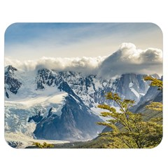 Snowy Andes Mountains, El Chalten Argentina Double Sided Flano Blanket (medium)  by dflcprints