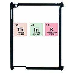 Think   Chemistry Apple Ipad 2 Case (black) by Valentinaart