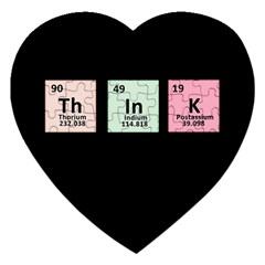 Think   Chemistry Jigsaw Puzzle (heart) by Valentinaart