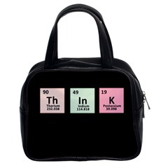 Think   Chemistry Classic Handbags (2 Sides) by Valentinaart