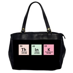 Think   Chemistry Office Handbags (2 Sides)  by Valentinaart