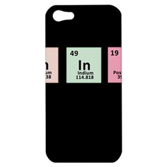 Think   Chemistry Apple Iphone 5 Hardshell Case by Valentinaart