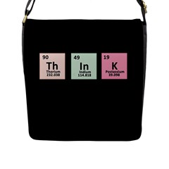 Think   Chemistry Flap Messenger Bag (l)  by Valentinaart