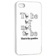 To Be Or Not To Be Apple Iphone 4/4s Seamless Case (white) by Valentinaart