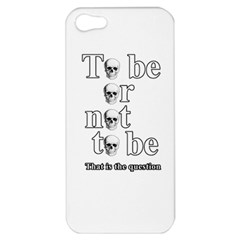 To Be Or Not To Be Apple Iphone 5 Hardshell Case by Valentinaart