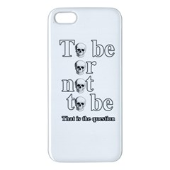 To Be Or Not To Be Iphone 5s/ Se Premium Hardshell Case by Valentinaart