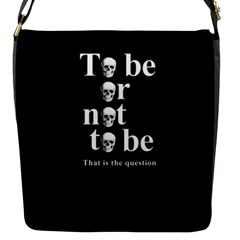 To Be Or Not To Be Flap Messenger Bag (s) by Valentinaart