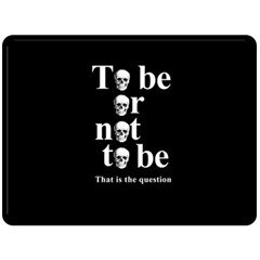 To Be Or Not To Be Double Sided Fleece Blanket (large)  by Valentinaart