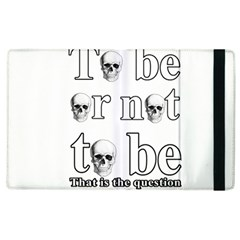 To Be Or Not To Be Apple Ipad 2 Flip Case by Valentinaart