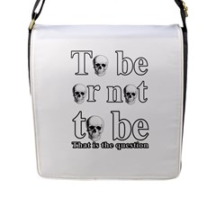 To Be Or Not To Be Flap Messenger Bag (l)  by Valentinaart