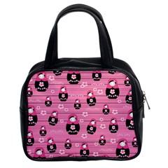 Matryoshka Doll Pattern Classic Handbags (2 Sides) by Valentinaart