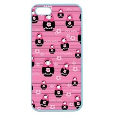 Matryoshka Doll Pattern Apple Seamless Iphone 5 Case (color) by Valentinaart