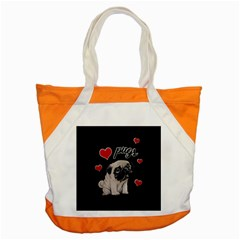Love Pugs Accent Tote Bag by Valentinaart