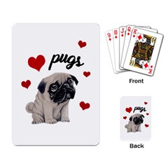 Love Pugs Playing Card by Valentinaart