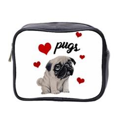 Love Pugs Mini Toiletries Bag 2 Side by Valentinaart
