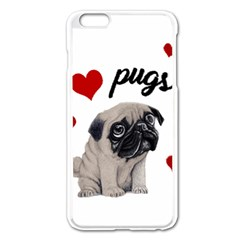 Love Pugs Apple Iphone 6 Plus/6s Plus Enamel White Case by Valentinaart
