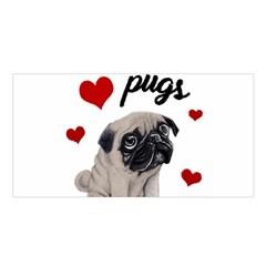 Love Pugs Satin Shawl by Valentinaart