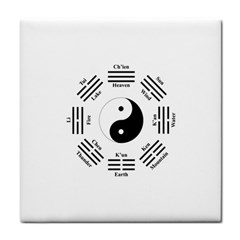 I Ching  Tile Coasters by Valentinaart