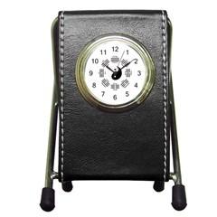 I Ching  Pen Holder Desk Clocks by Valentinaart
