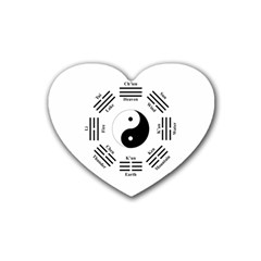 I Ching  Rubber Coaster (heart)  by Valentinaart