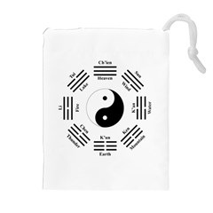 I Ching  Drawstring Pouches (extra Large) by Valentinaart