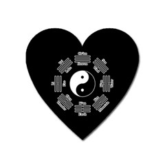 I Ching  Heart Magnet by Valentinaart