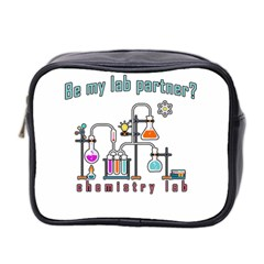 Chemistry Lab Mini Toiletries Bag 2 Side by Valentinaart