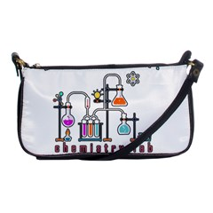 Chemistry Lab Shoulder Clutch Bags by Valentinaart