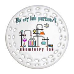 Chemistry Lab Round Filigree Ornament (two Sides) by Valentinaart