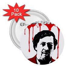 Pablo Escobar  2 25  Buttons (10 Pack)  by Valentinaart