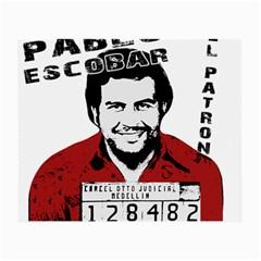 Pablo Escobar  Small Glasses Cloth by Valentinaart