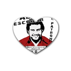 Pablo Escobar  Rubber Coaster (heart)  by Valentinaart