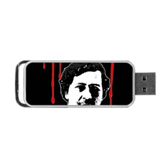 Pablo Escobar  Portable Usb Flash (two Sides) by Valentinaart