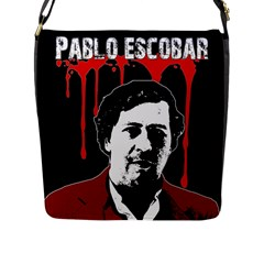 Pablo Escobar  Flap Messenger Bag (l)  by Valentinaart
