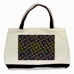 Colorful Floral Collage Pattern Basic Tote Bag (two Sides) by dflcprints