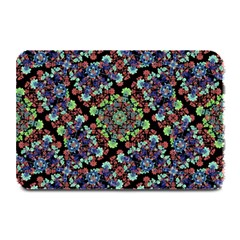 Colorful Floral Collage Pattern Plate Mats