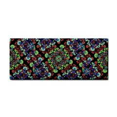 Colorful Floral Collage Pattern Cosmetic Storage Cases by dflcprints